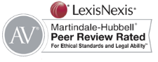 LexisNexis AV Martindale-Hubbell® Peer Review Rated for Ethical Standards and Legal Ability