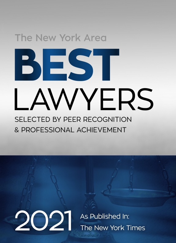 New York Area Best Lawyers as Published in the New York Times